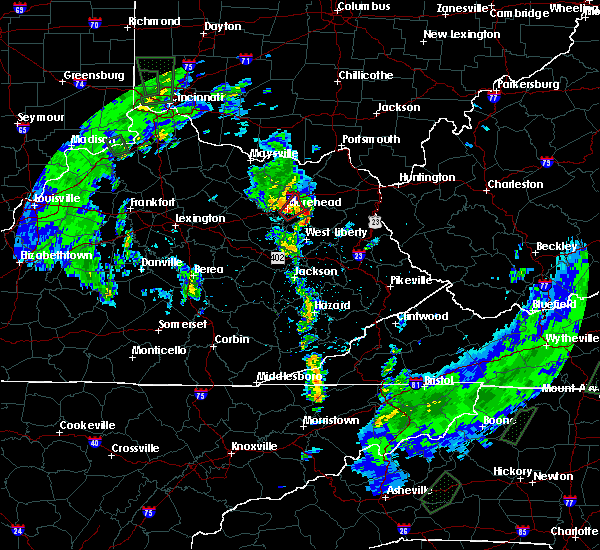 Radar Image for Severe Thunderstorms near Morehead, KY at 5/24/2017 6:38 PM EDT