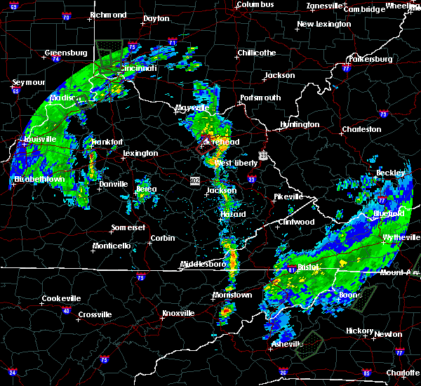 Radar Image for Severe Thunderstorms near Morehead, KY at 5/24/2017 6:56 PM EDT