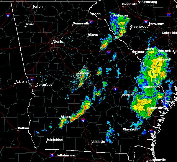 Radar Image for Severe Thunderstorms near Gordon, GA at 5/24/2017 8:01 PM EDT