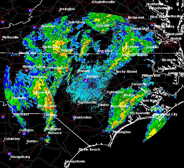 Radar Image for Severe Thunderstorms near Candor, NC at 5/25/2017 2:21 AM EDT