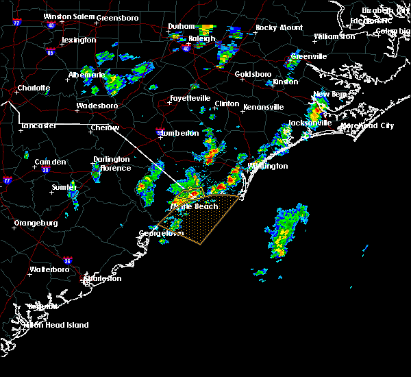 Radar Image for Severe Thunderstorms near Ocean Isle Beach, NC at 5/25/2017 2:49 PM EDT