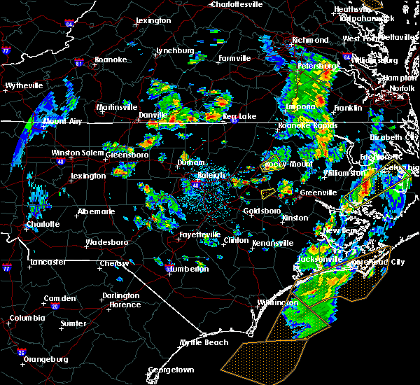 Radar Image for Severe Thunderstorms near Dortches, NC at 5/25/2017 4:28 PM EDT