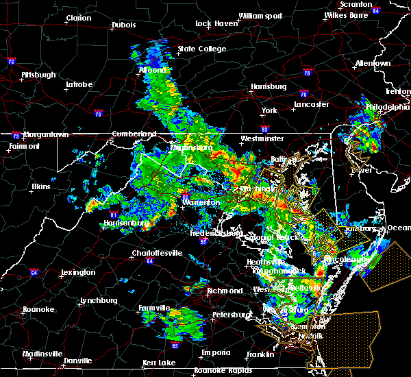 Radar Image for Severe Thunderstorms near Arbutus, MD at 5/25/2017 6:14 PM EDT