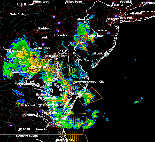 Radar Image for Severe Thunderstorms near Kent Narrows, MD at 5/25/2017 6:29 PM EDT