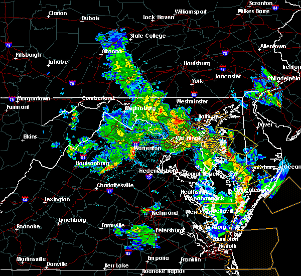 Radar Image for Severe Thunderstorms near Lanham, MD at 5/25/2017 6:30 PM EDT