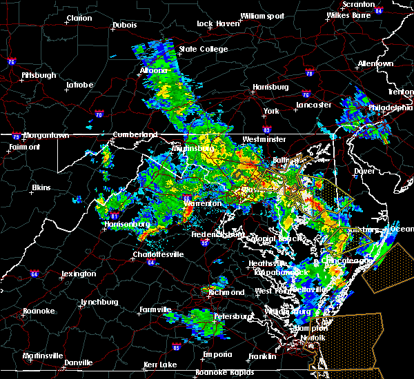 Radar Image for Severe Thunderstorms near Riva, MD at 5/25/2017 6:42 PM EDT