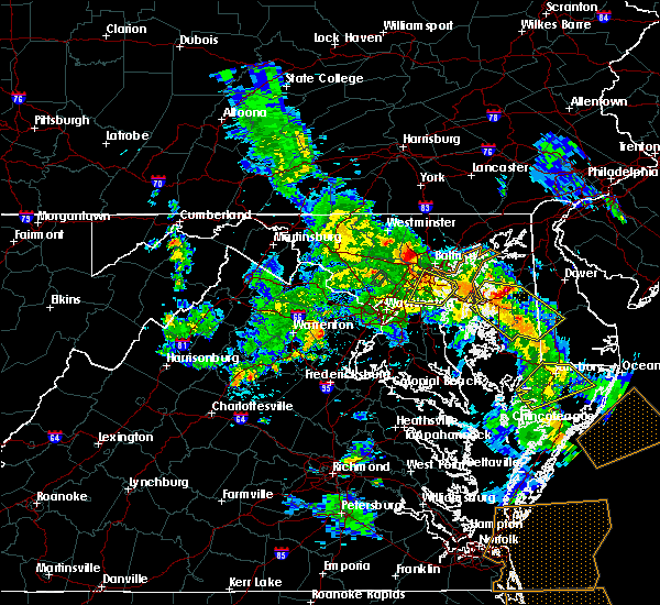 Radar Image for Severe Thunderstorms near Arbutus, MD at 5/25/2017 6:57 PM EDT