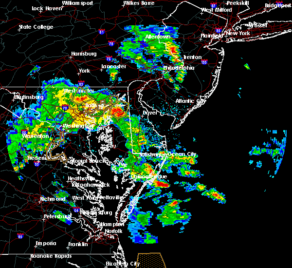 Radar Image for Severe Thunderstorms near Kingstown, MD at 5/25/2017 7:31 PM EDT