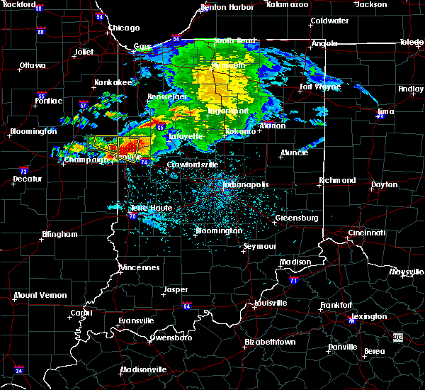 Radar Image for Severe Thunderstorms near West Lebanon, IN at 5/26/2017 7:25 PM EDT