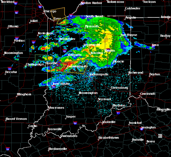 Radar Image for Severe Thunderstorms near Crawfordsville, IN at 5/26/2017 8:11 PM EDT