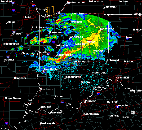 Radar Image for Severe Thunderstorms near Whitestown, IN at 5/26/2017 8:39 PM EDT