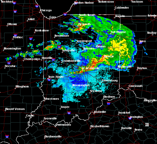 Radar Image for Severe Thunderstorms near Indianapolis, IN at 5/26/2017 9:26 PM EDT