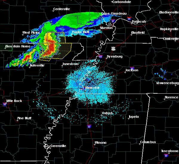 Radar Image for Severe Thunderstorms near Delaplaine, AR at 5/27/2017 4:51 AM CDT