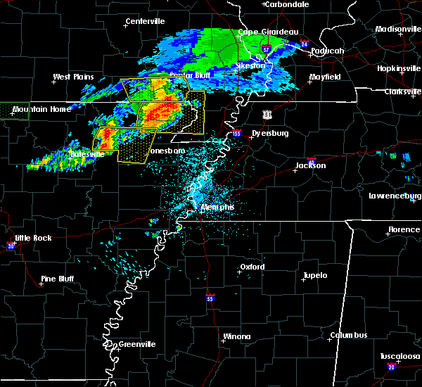 Radar Image for Severe Thunderstorms near Strawberry, AR at 5/27/2017 5:34 AM CDT