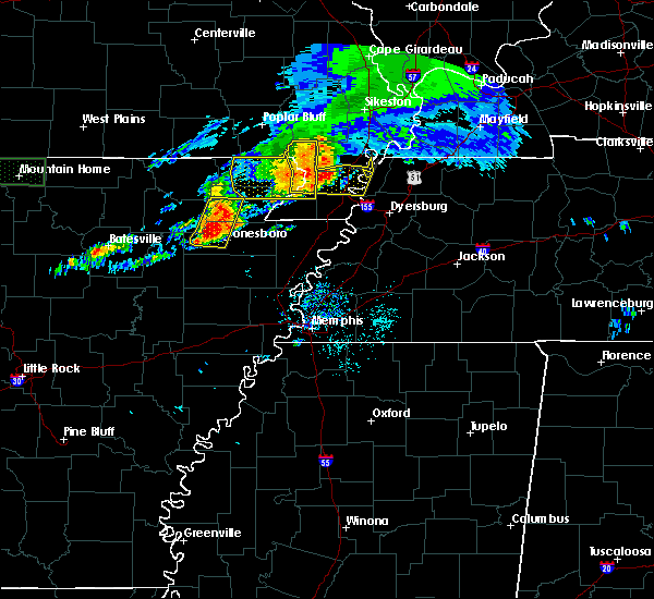 Radar Image for Severe Thunderstorms near Paragould, AR at 5/27/2017 6:07 AM CDT