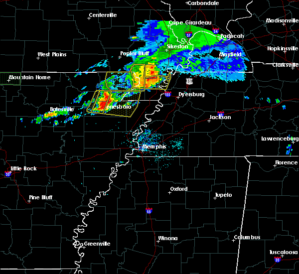 Radar Image for Severe Thunderstorms near Paragould, AR at 5/27/2017 6:13 AM CDT