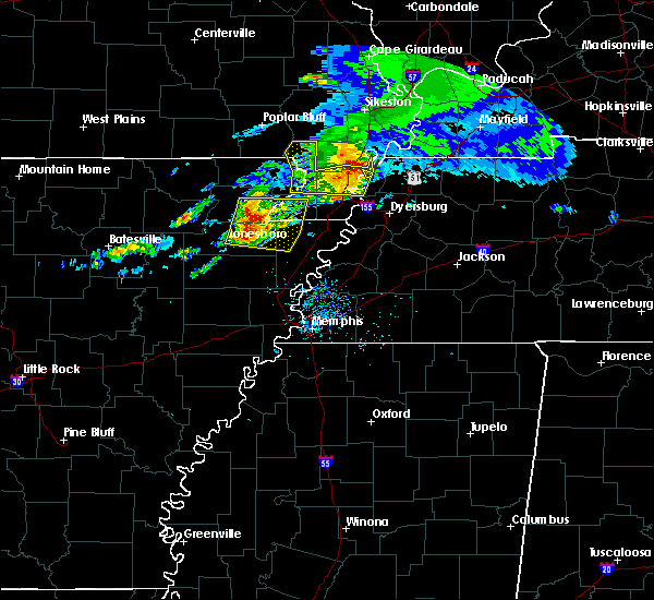 Radar Image for Severe Thunderstorms near Paragould, AR at 5/27/2017 6:29 AM CDT
