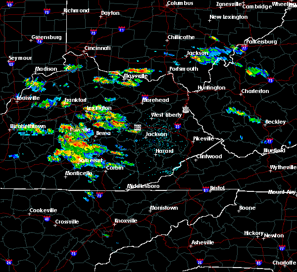 Radar Image for Severe Thunderstorms near Danville, KY at 5/27/2017 4:07 PM EDT