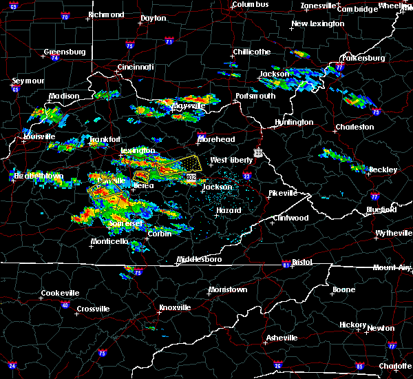 Radar Image for Severe Thunderstorms near Richmond, KY at 5/27/2017 4:17 PM EDT