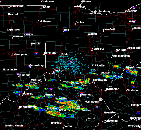 Radar Image for Severe Thunderstorms near Otway, OH at 5/27/2017 4:23 PM EDT