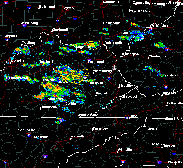 Radar Image for Severe Thunderstorms near Danville, KY at 5/27/2017 4:25 PM EDT