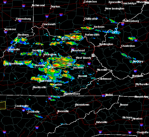 Radar Image for Severe Thunderstorms near Stanton, KY at 5/27/2017 4:42 PM EDT