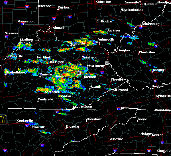 Radar Image for Severe Thunderstorms near Stanton, KY at 5/27/2017 4:46 PM EDT