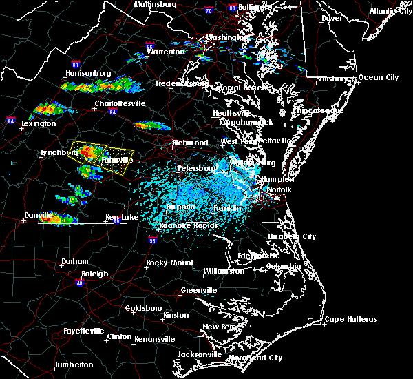 Radar Image for Severe Thunderstorms near Farmville, VA at 5/27/2017 4:46 PM EDT