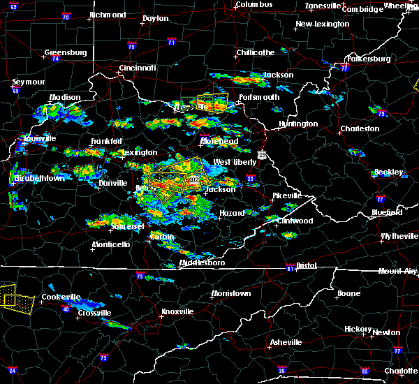 Radar Image for Severe Thunderstorms near Irvine, KY at 5/27/2017 4:57 PM EDT