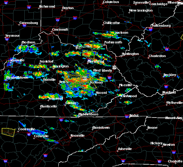 Radar Image for Severe Thunderstorms near Jackson, KY at 5/27/2017 5:04 PM EDT