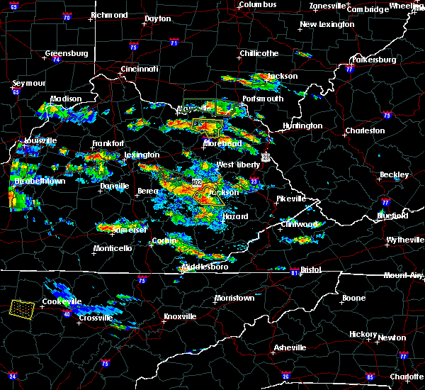 Radar Image for Severe Thunderstorms near Jackson, KY at 5/27/2017 5:21 PM EDT