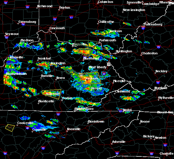 Radar Image for Severe Thunderstorms near Science Hill, KY at 5/27/2017 5:37 PM EDT