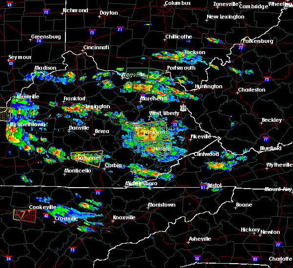 Radar Image for Severe Thunderstorms near Pippa Passes, KY at 5/27/2017 5:46 PM EDT