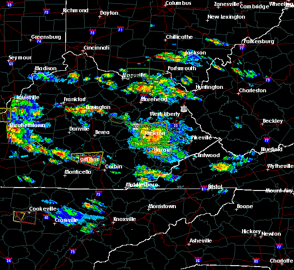 Radar Image for Severe Thunderstorms near Jackson, KY at 5/27/2017 5:51 PM EDT