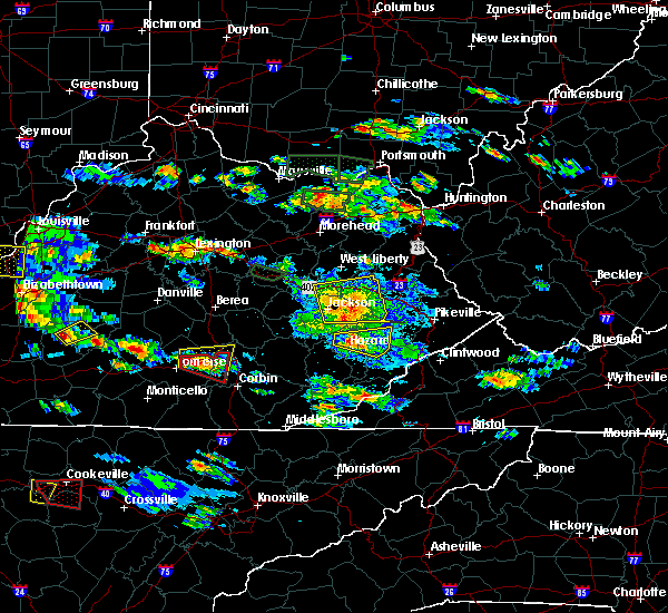 Radar Image for Severe Thunderstorms near Jackson, KY at 5/27/2017 5:57 PM EDT