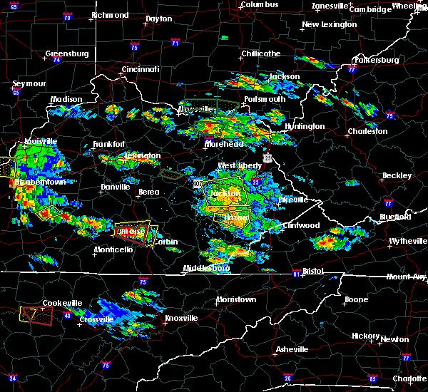 Radar Image for Severe Thunderstorms near London, KY at 5/27/2017 6:00 PM EDT