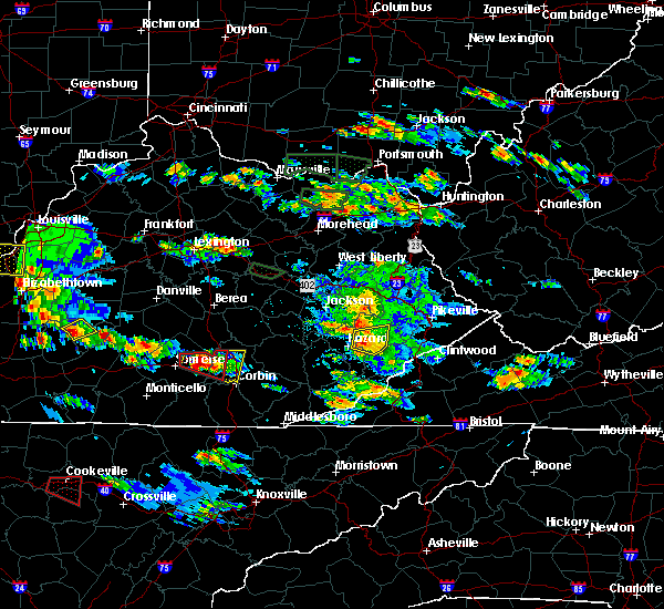 Radar Image for Severe Thunderstorms near Pippa Passes, KY at 5/27/2017 6:04 PM EDT