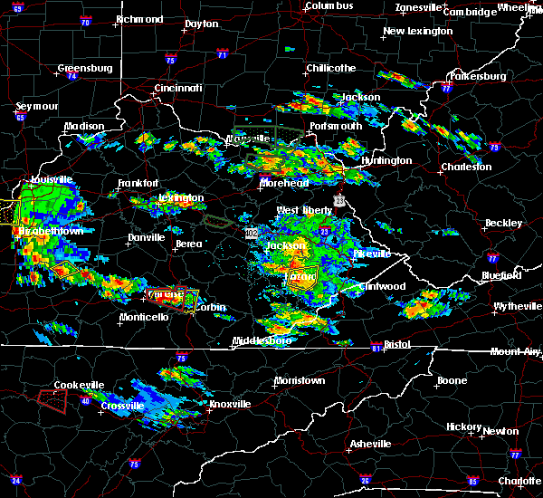 Radar Image for Severe Thunderstorms near London, KY at 5/27/2017 6:07 PM EDT