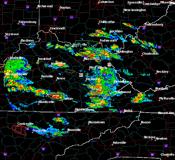 Radar Image for Severe Thunderstorms near Hindman, KY at 5/27/2017 6:14 PM EDT