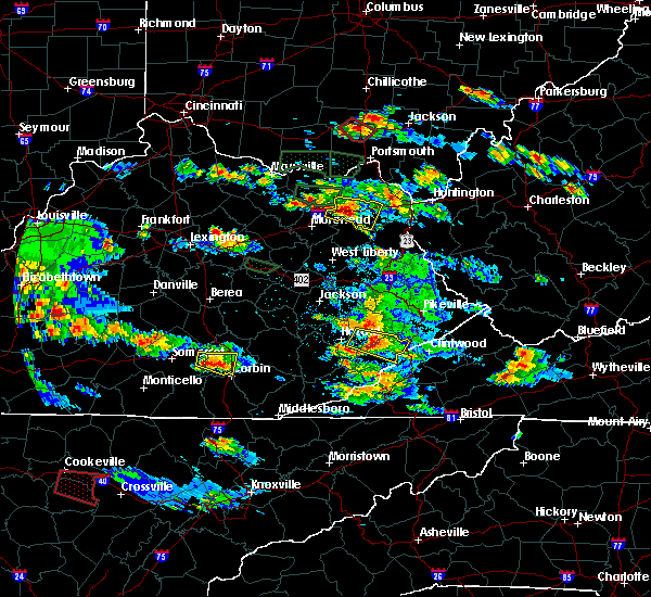 Radar Image for Severe Thunderstorms near London, KY at 5/27/2017 6:21 PM EDT