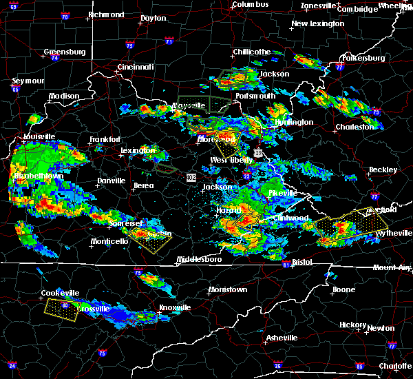 Radar Image for Severe Thunderstorms near Grayson, KY at 5/27/2017 6:37 PM EDT