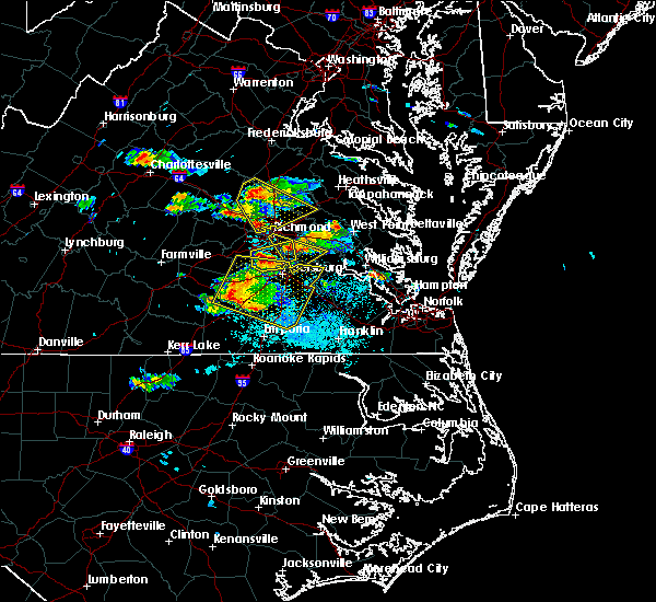 Radar Image for Severe Thunderstorms near Hopewell, VA at 5/27/2017 6:38 PM EDT
