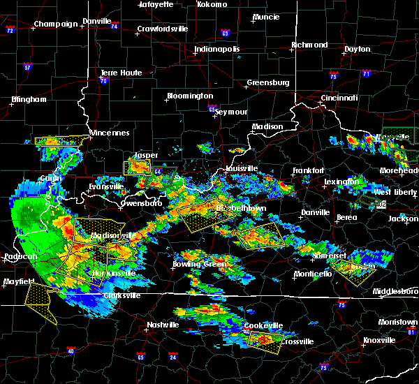 Radar Image for Severe Thunderstorms near Bradfordsville, KY at 5/27/2017 6:41 PM EDT