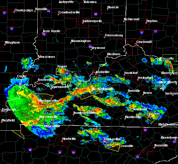 Radar Image for Severe Thunderstorms near Bradfordsville, KY at 5/27/2017 6:53 PM EDT