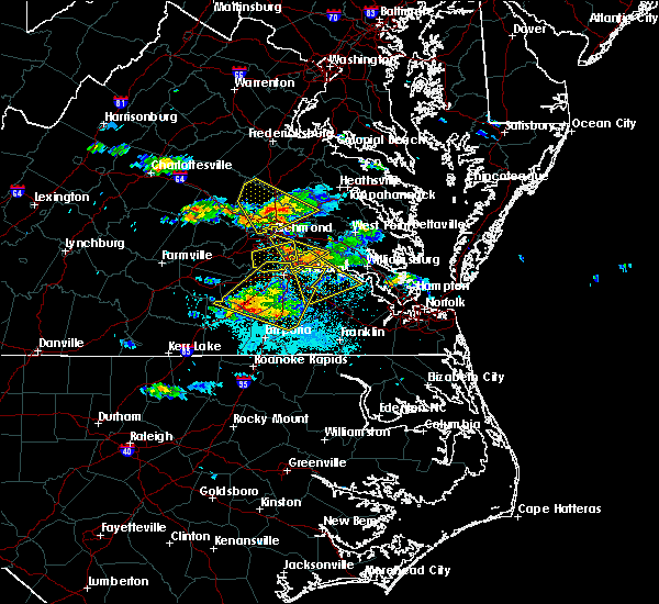 Radar Image for Severe Thunderstorms near Sussex, VA at 5/27/2017 6:58 PM EDT