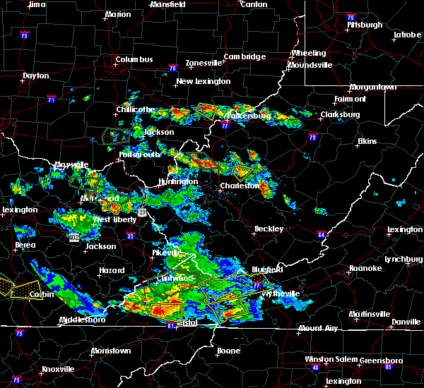 Radar Image for Severe Thunderstorms near Vincent, OH at 5/27/2017 7:30 PM EDT