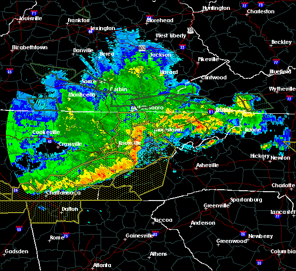 Radar Image for Severe Thunderstorms near Franklin, NC at 5/27/2017 10:59 PM EDT