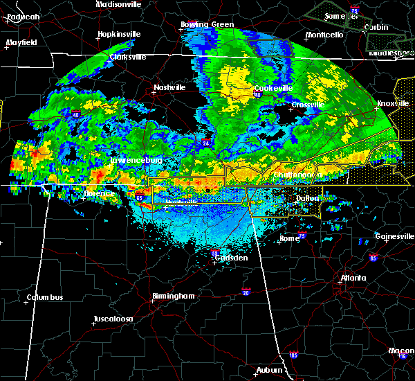 Radar Image for Severe Thunderstorms near Hytop, AL at 5/27/2017 10:16 PM CDT