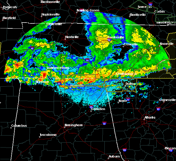 Radar Image for Severe Thunderstorms near Hytop, AL at 5/27/2017 10:19 PM CDT