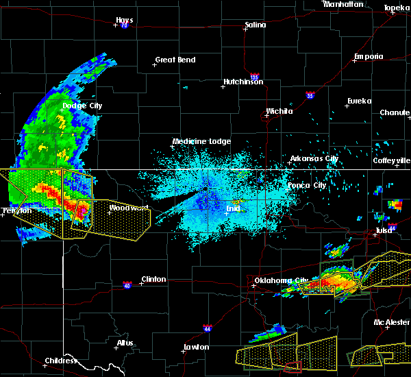 Radar Image for Severe Thunderstorms near Woodward, OK at 5/27/2017 10:29 PM CDT